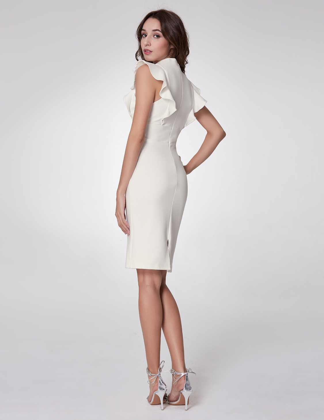 Ever-Pretty-US-White-Short-V-neck-Evening-Dresses-Ruffles-Cocktail-Gowns-05967