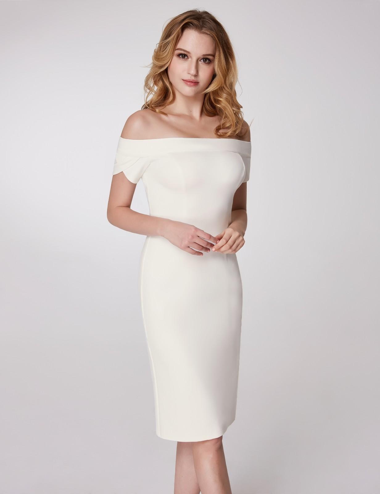 2a84e145ab02 Ever-Pretty Evening Cocktail Party Dresses White Off Shoulder OL ...