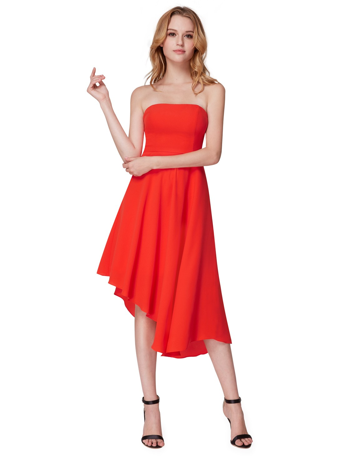 Ever-pretty UK Strapless High-low Cocktail Party Dresses Homecoming ...