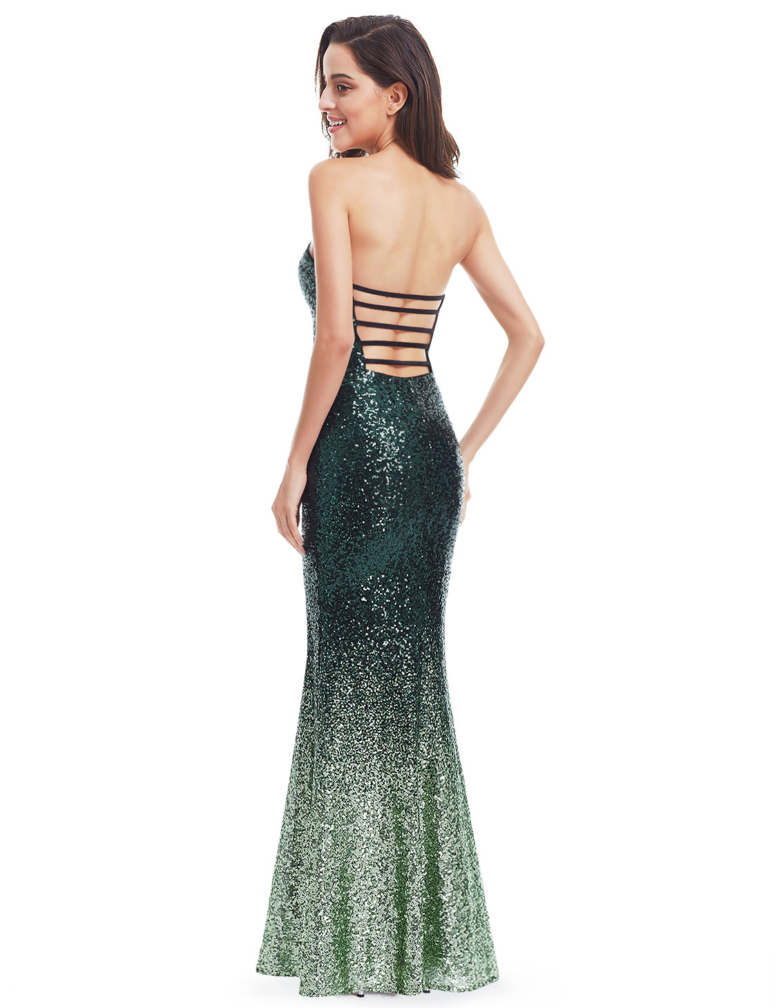 Ever-Pretty Strapless Sequins Formal Evening Prom Dresses Mermaid ...