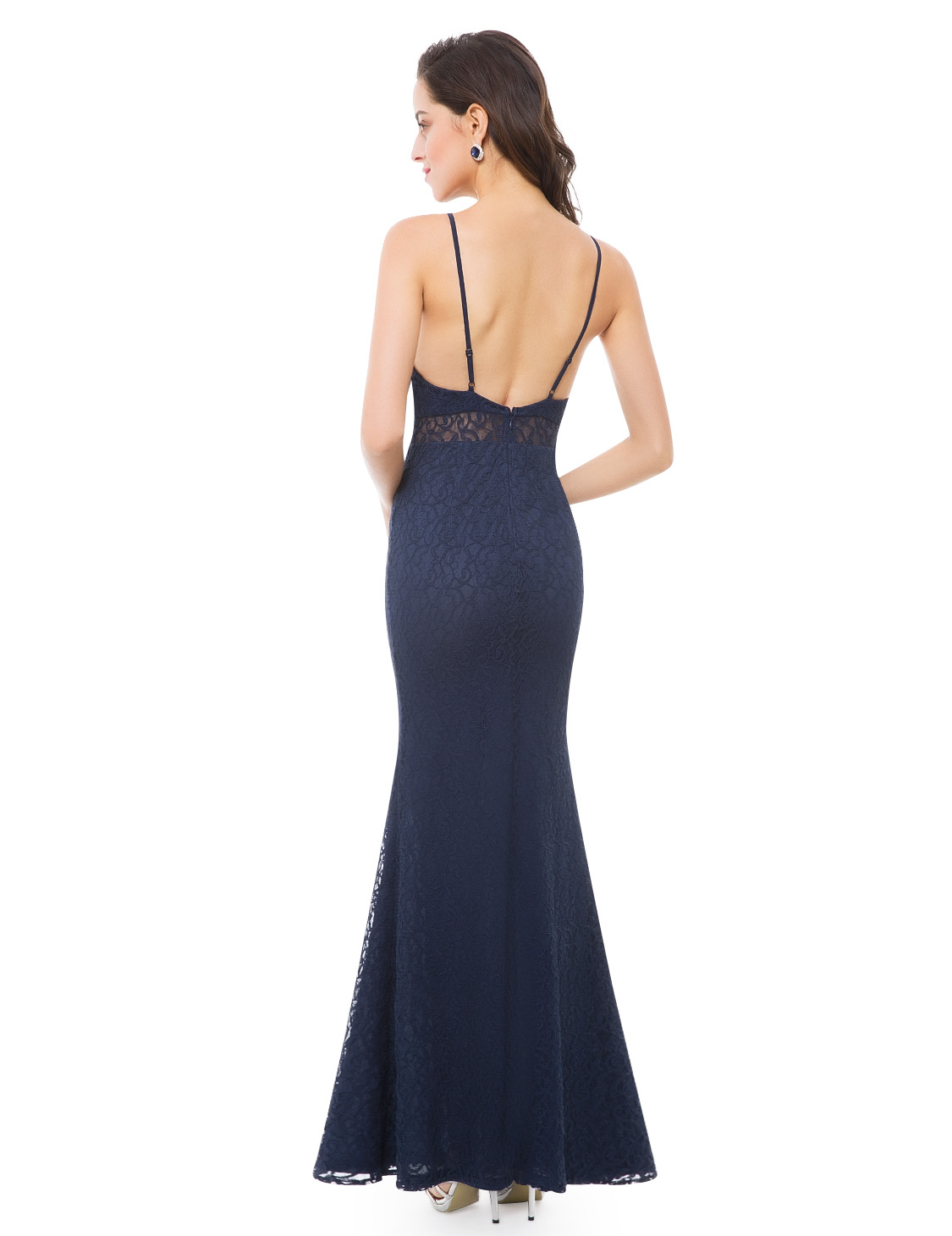 Ever-Pretty-Sexy-Backless-Evening-Dresses-Lace-Mermaid-Prom-Party-Dress-07033 thumbnail 10