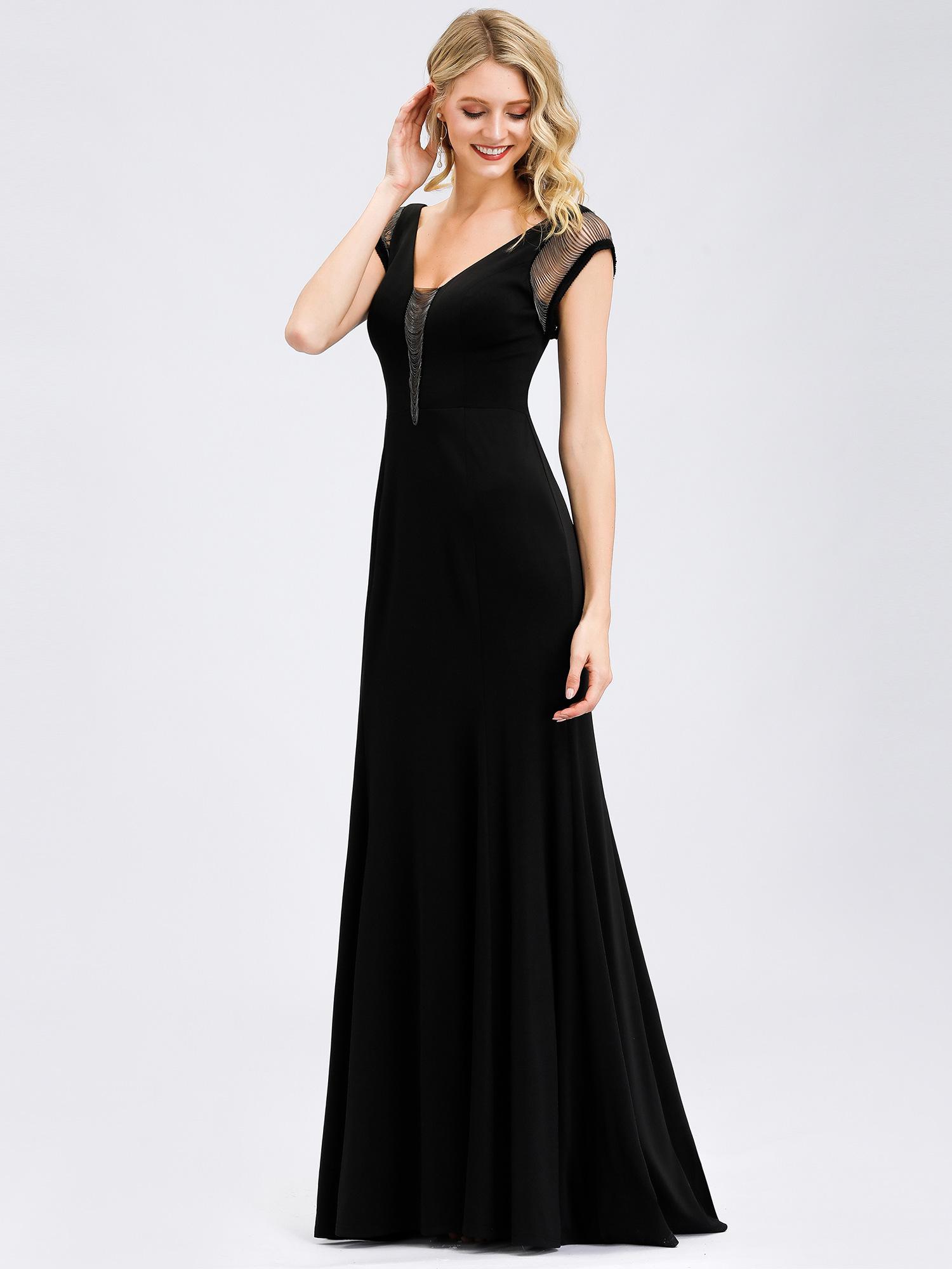 Ever-Pretty Black Formal Dresses Mermaid Party Dress Evening Ball ...