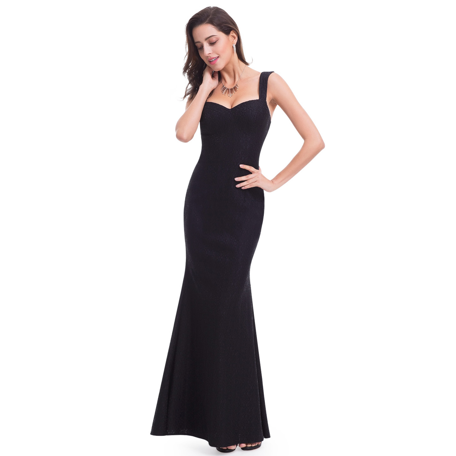 Womens Long Black Formal Evening Dress Homecoming Prom Gown 07041 Ever-Pretty