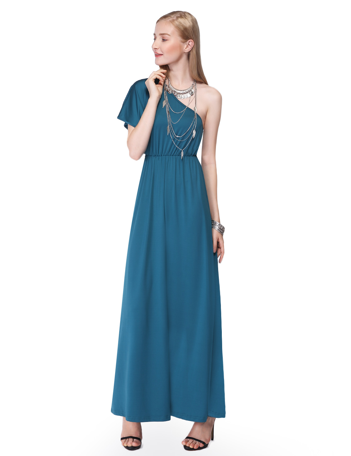 Ever-Pretty Maxi Dress for Women One Shoulder Summer Holiday Party ...