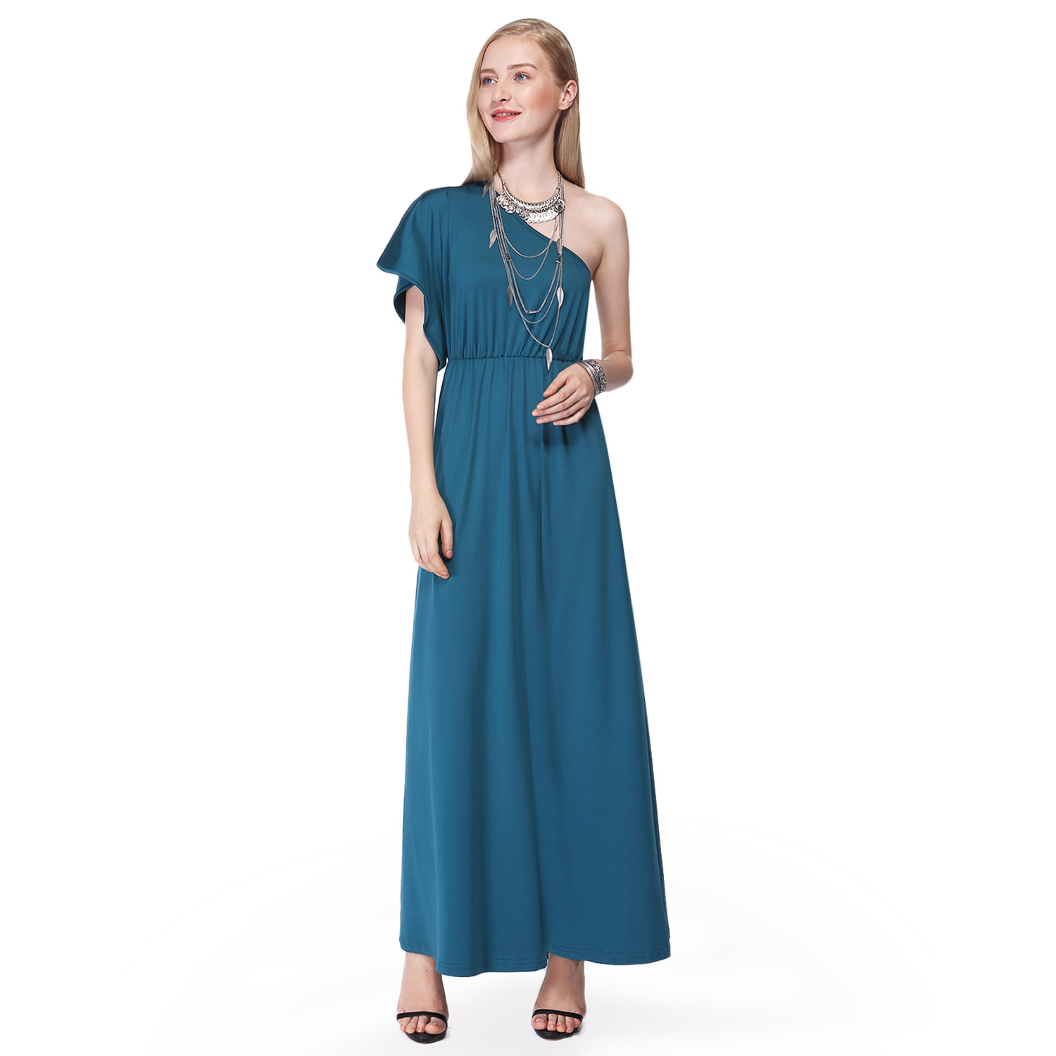 Womens One Shoulder Homecoming Cocktail Party Summer Dresses 07049 ...