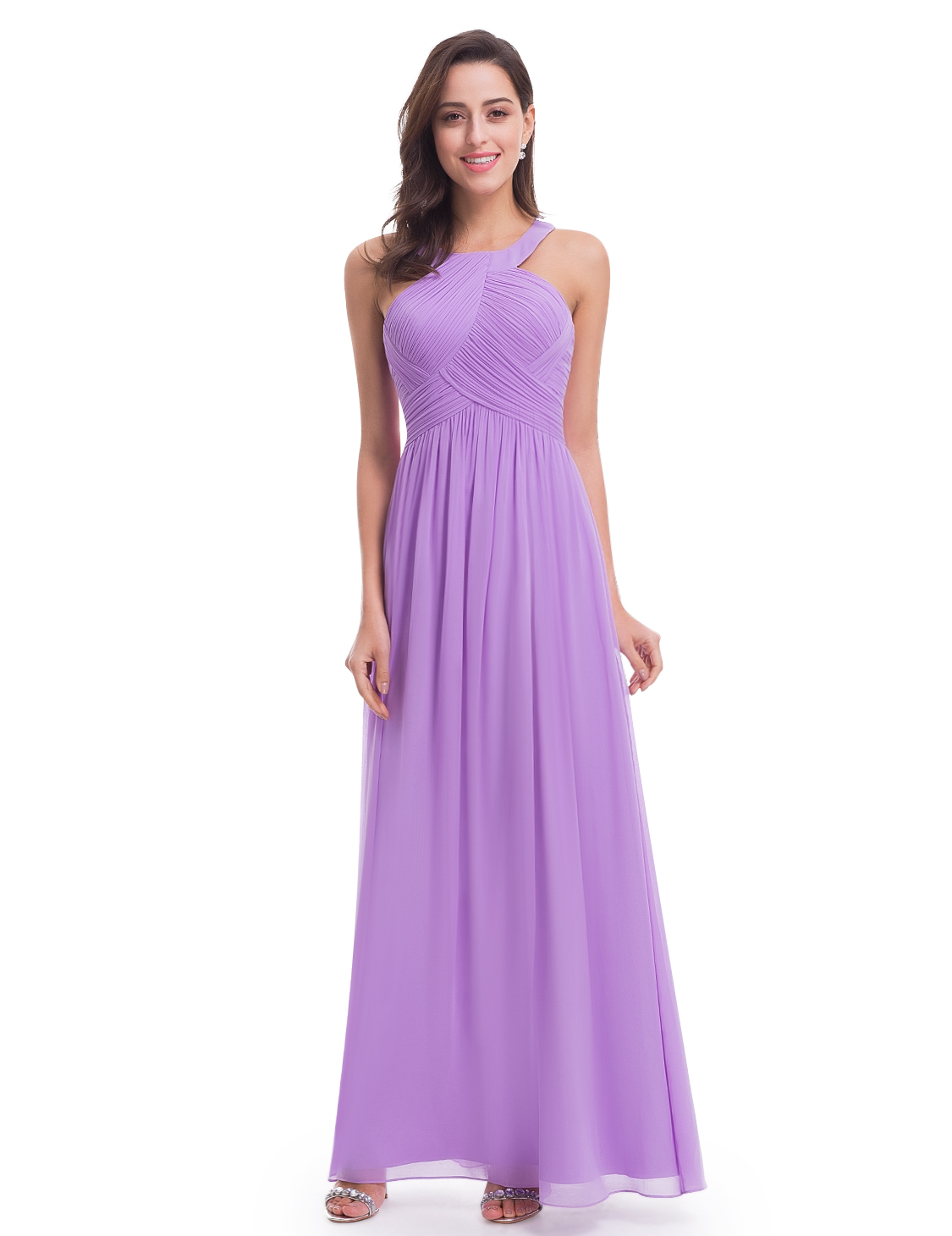 Ever-Pretty 2018 Long Halter Bridesmaid Wedding Dresses Evening Prom ...