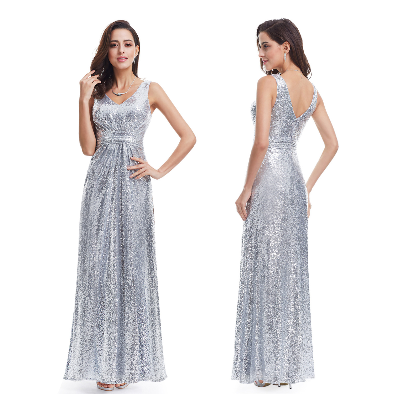 Ever-Pretty Women's Silver Formal Evening Dresses 07086 ...