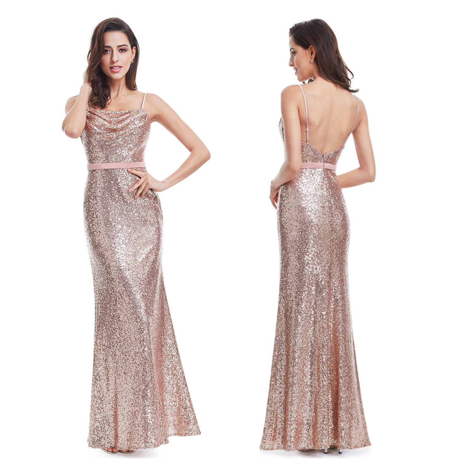 Long Sequins Sleeveless Evening Dresses Party Prom Gowns 07087 Ever ...