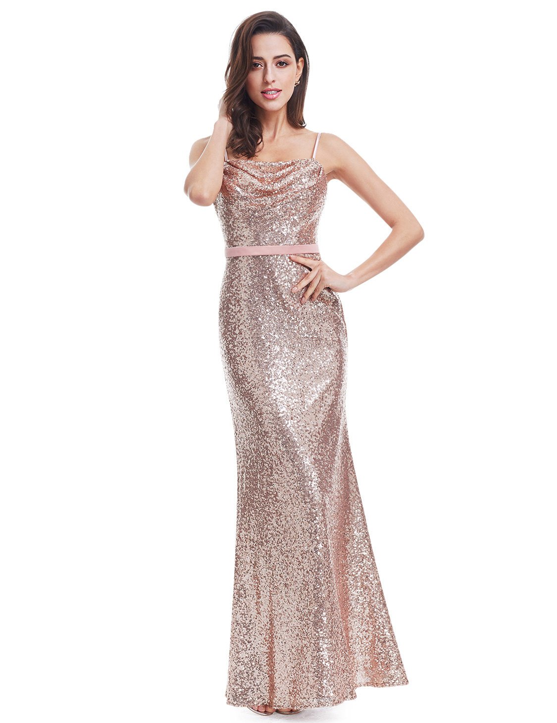 Long Sequins Formal Celebrity Ball Prom Gown Pageant Evening Dresses ...
