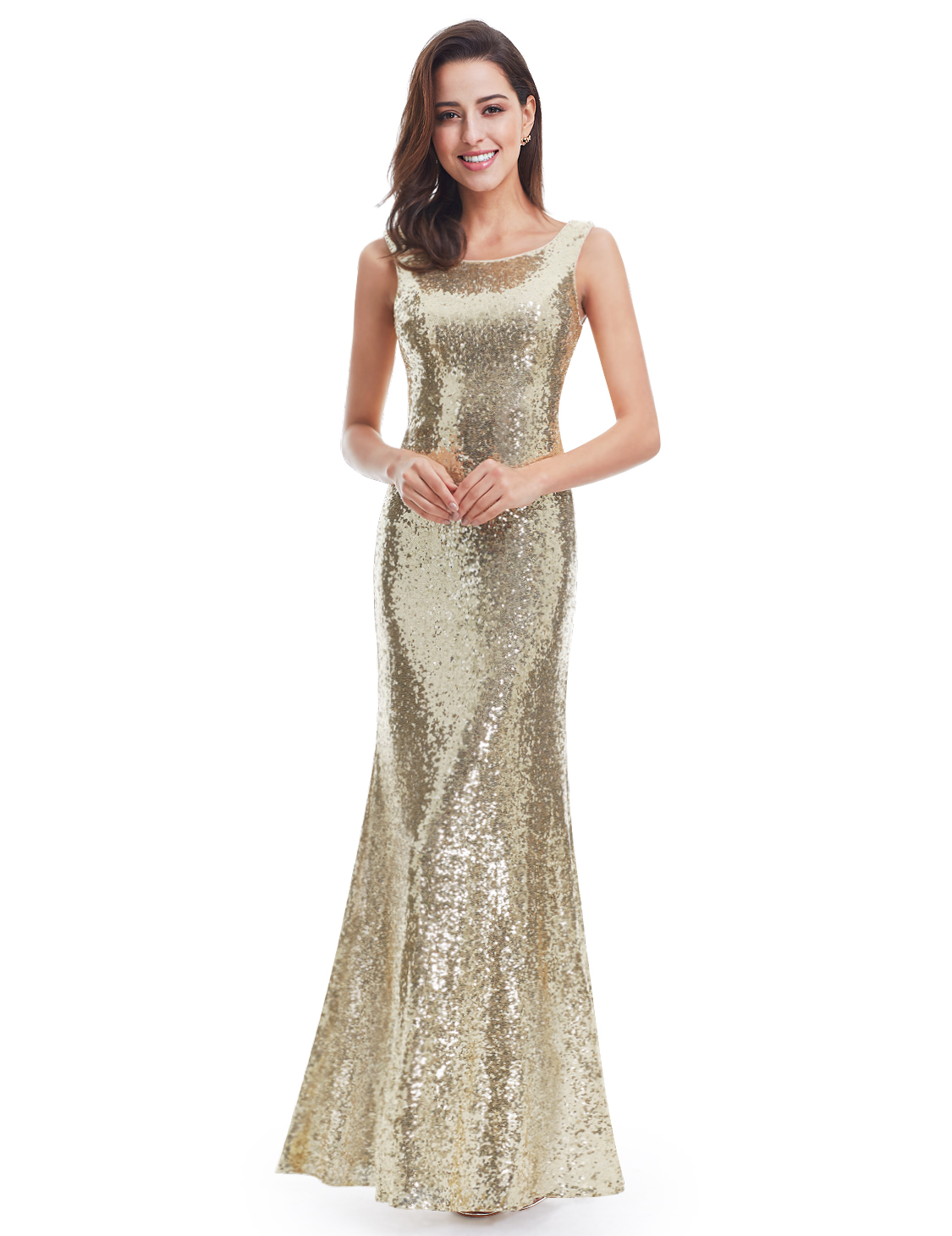 638c75a910a Details about Ever-Pretty US Long Sequins Evening Dresses Glitter  Sleeveless Party Gowns 07110