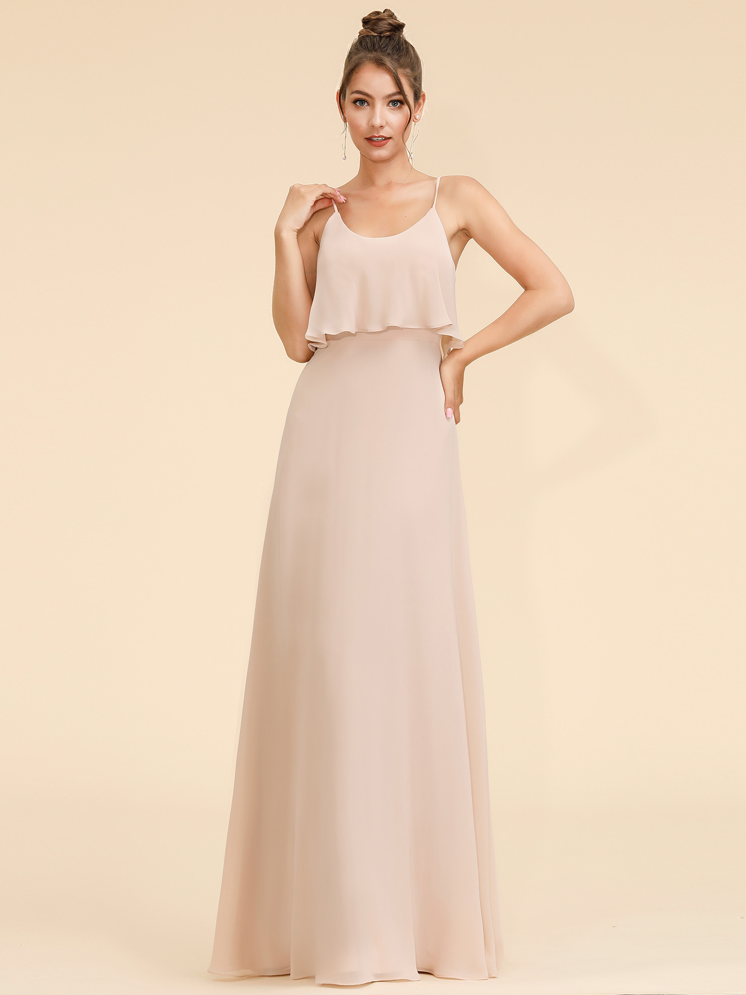 Ever-Pretty Halter Chiffon Wedding Dresses Bridesmaid Beach Holiday ...