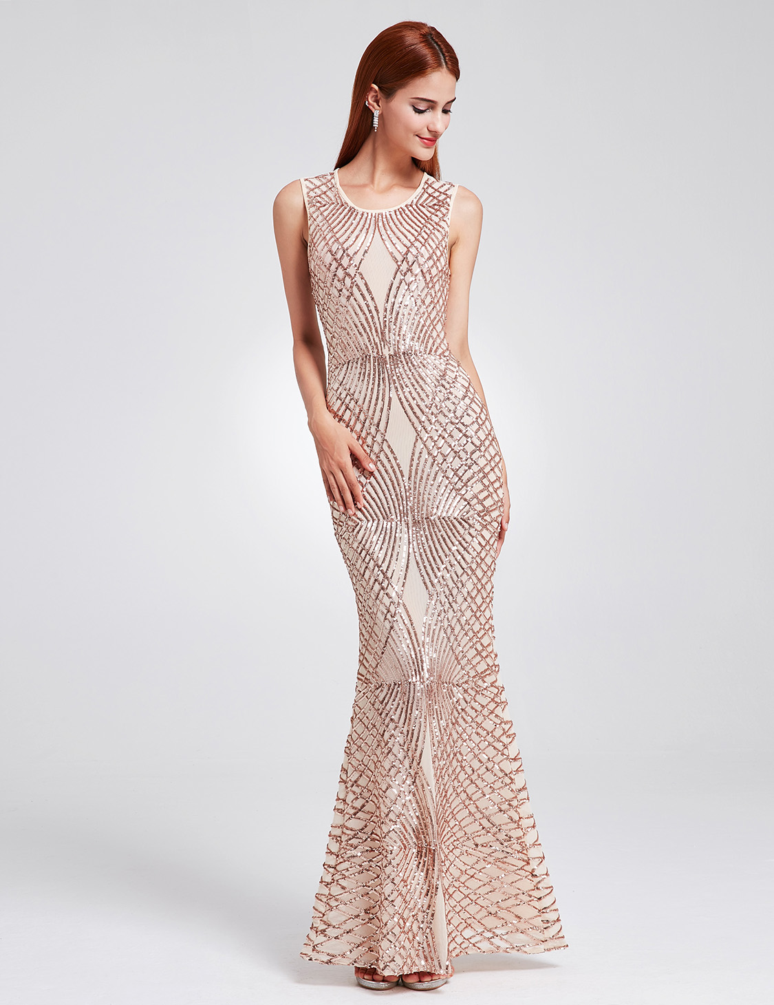 Ever-Pretty Long Sequins Mermaid Evening Party Dresses Celebrity ...