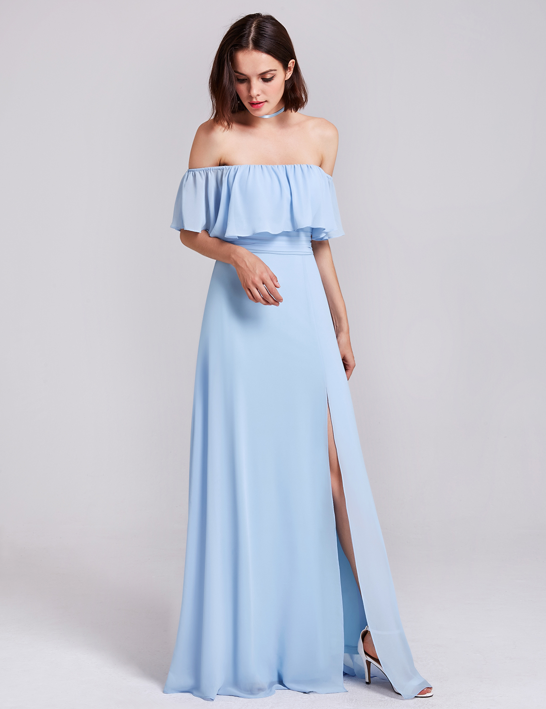 Ever-Pretty Long Off-shoulder Chiffon Bridesmaid Wedding Dresses ...