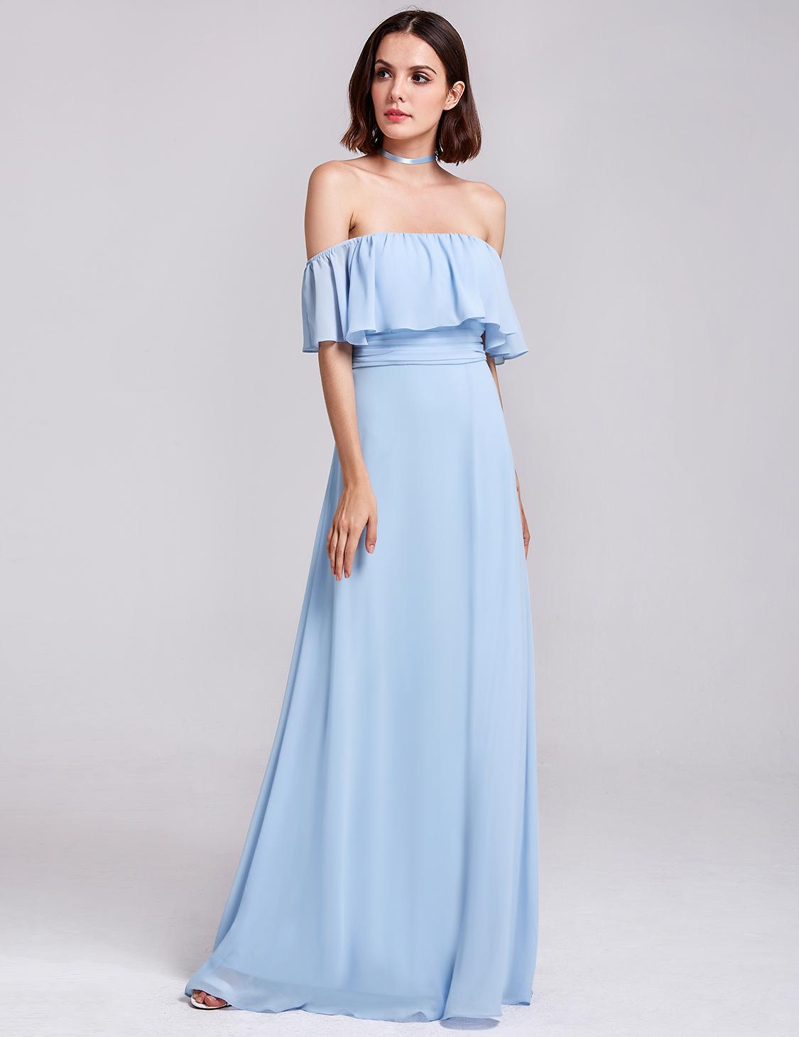 d46bf361020 Ever-Pretty Long Off Shoulder Bridesmaid Dresses Split Evening Prom ...