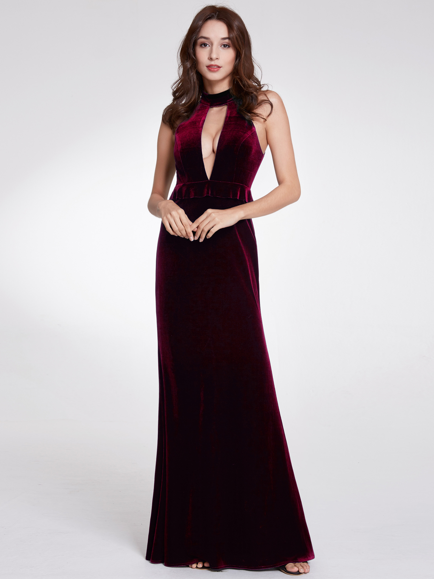 Velvet Evening Gown Cocktail Dress