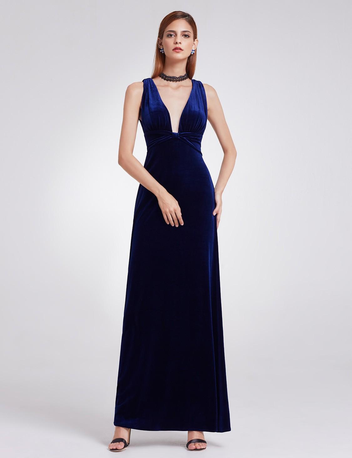 Ever-Pretty Formal Evening Dresses Long Wedding Velvet Ball Prom ...