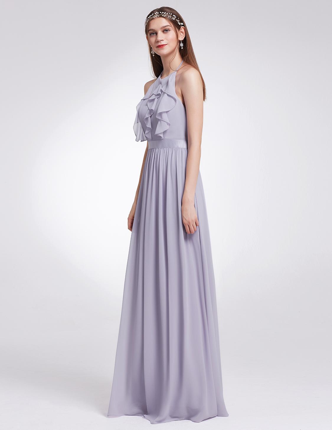 Ever pretty ruffled long wedding dresses halter party for Ever pretty wedding dresses