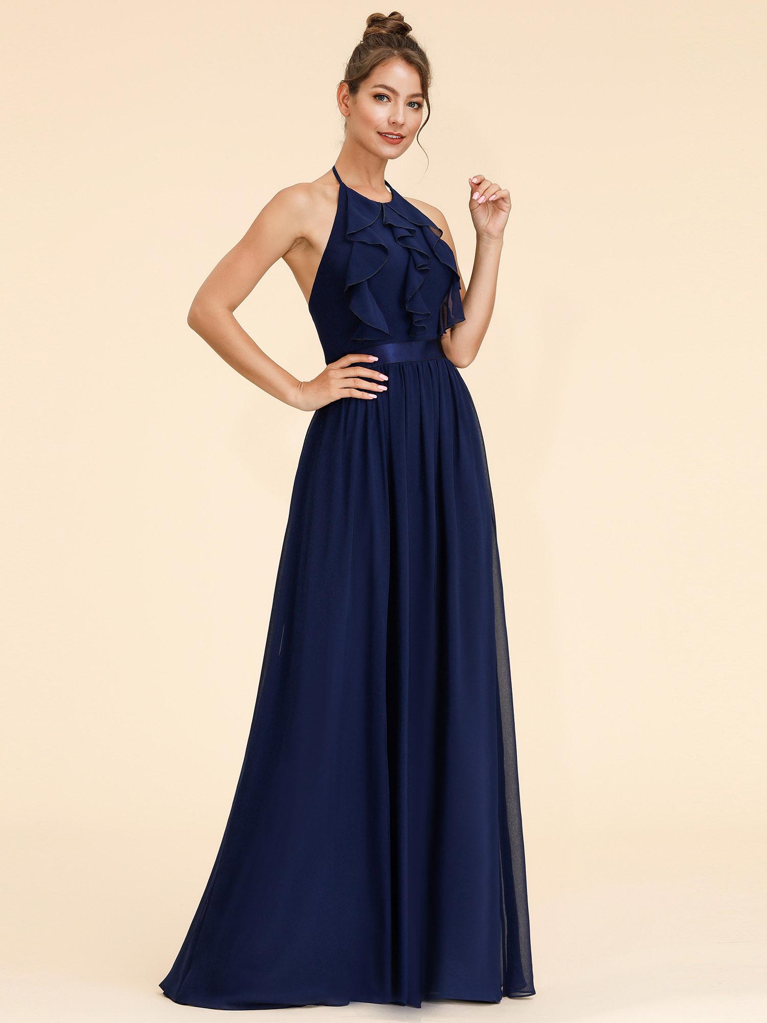 Ever pretty long chiffon evening prom dresses navy blue bridesmaid ever pretty long chiffon evening prom dresses navy ombrellifo Image collections