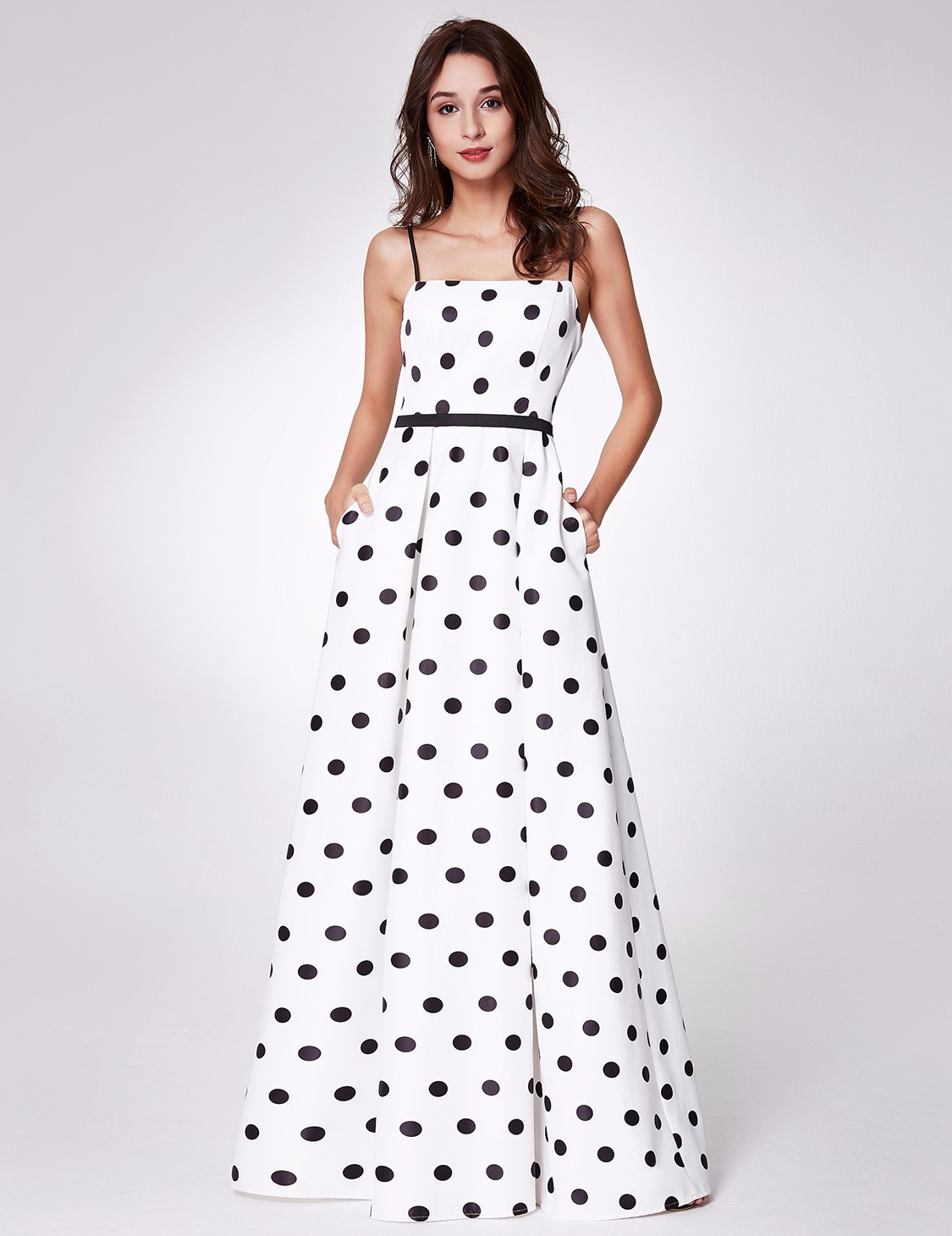 a6bd0e98374 Details about Ever-Pretty Long Women Prom Spaghetti Strap Polka Dot  Bridesmaid Maxi Dress 7214