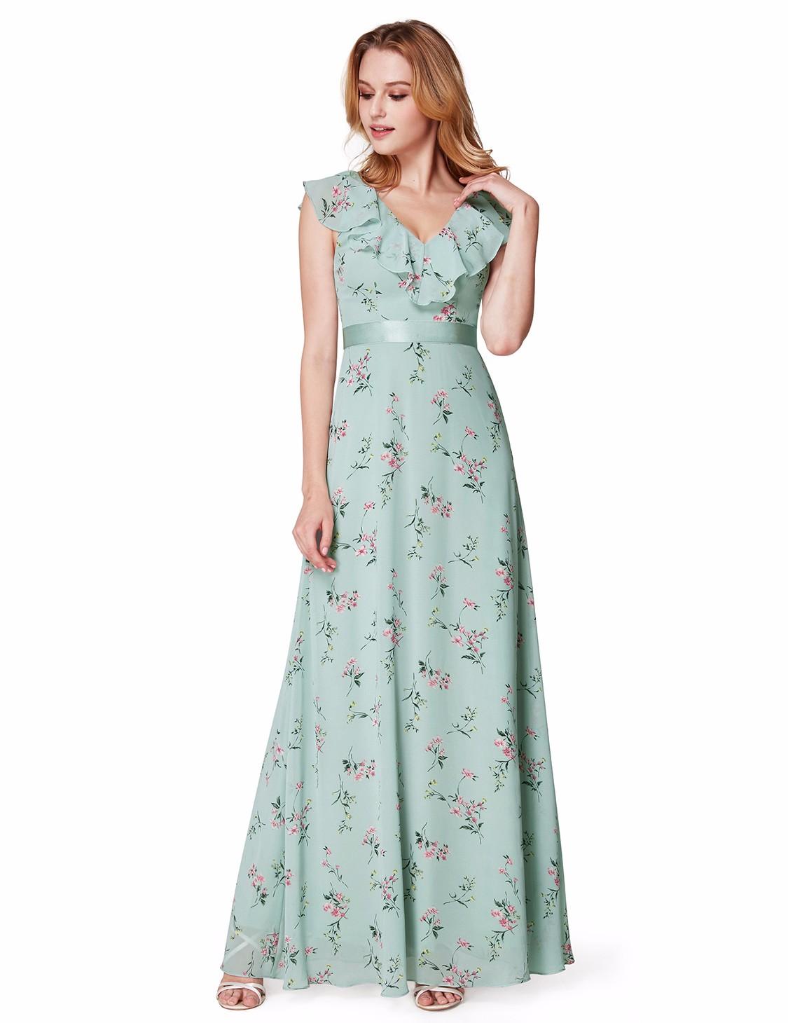 Ever-Pretty US Long Mint Green Chiffon Evening Dress Maxi Formal ...