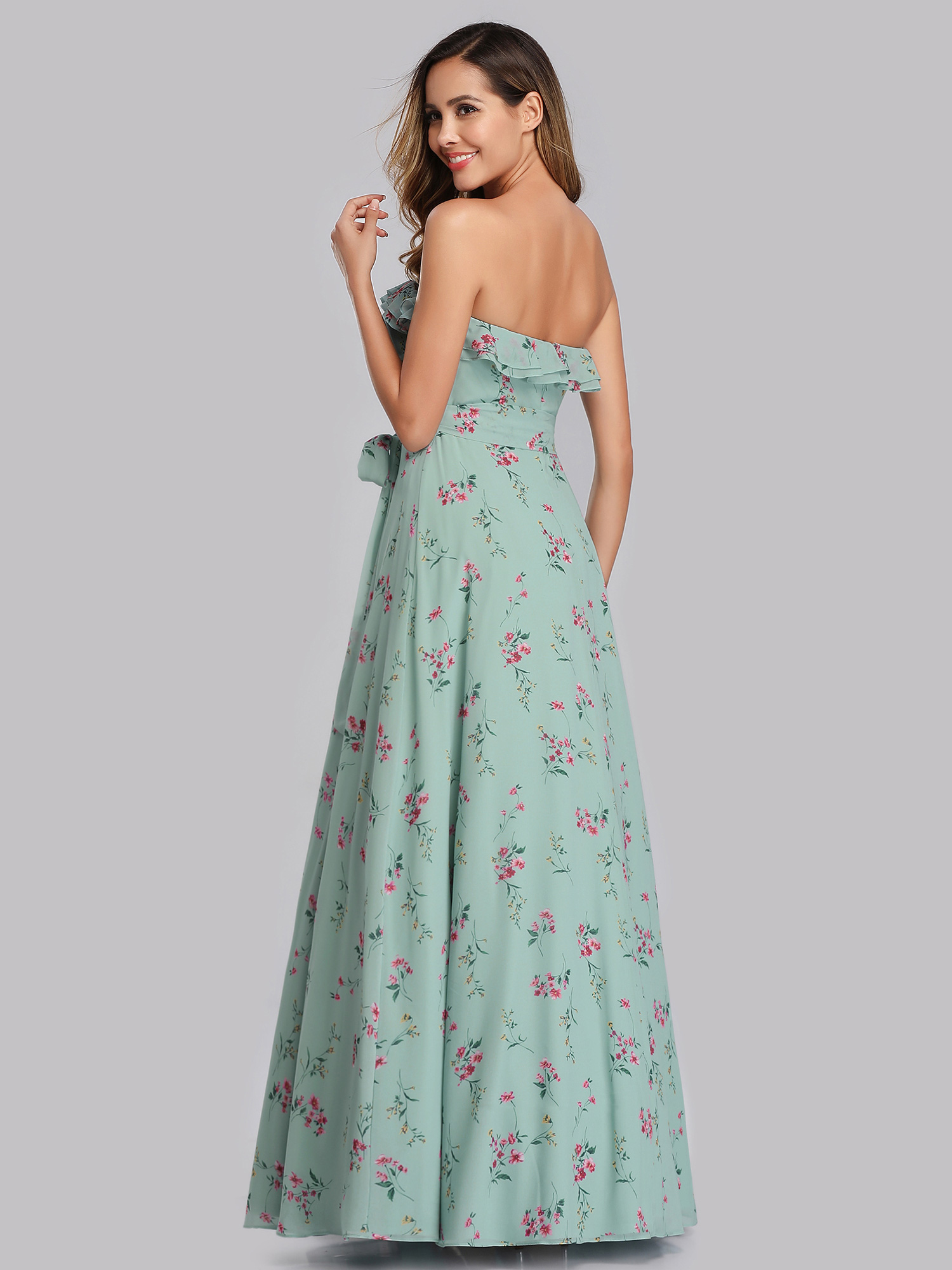 Ever-Pretty Floral Evening Dresses Summer Strapless Maxi ...