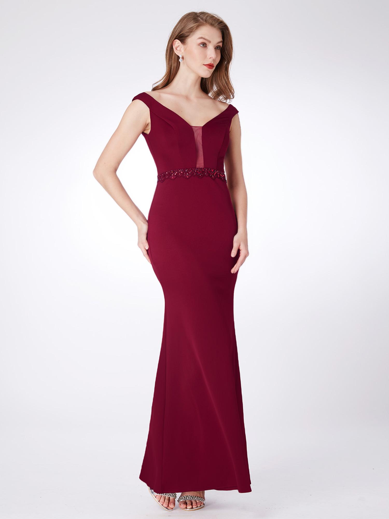 Ever-Pretty US Long Bodycon Evening Dresses V-neck Sleeveless Party ...
