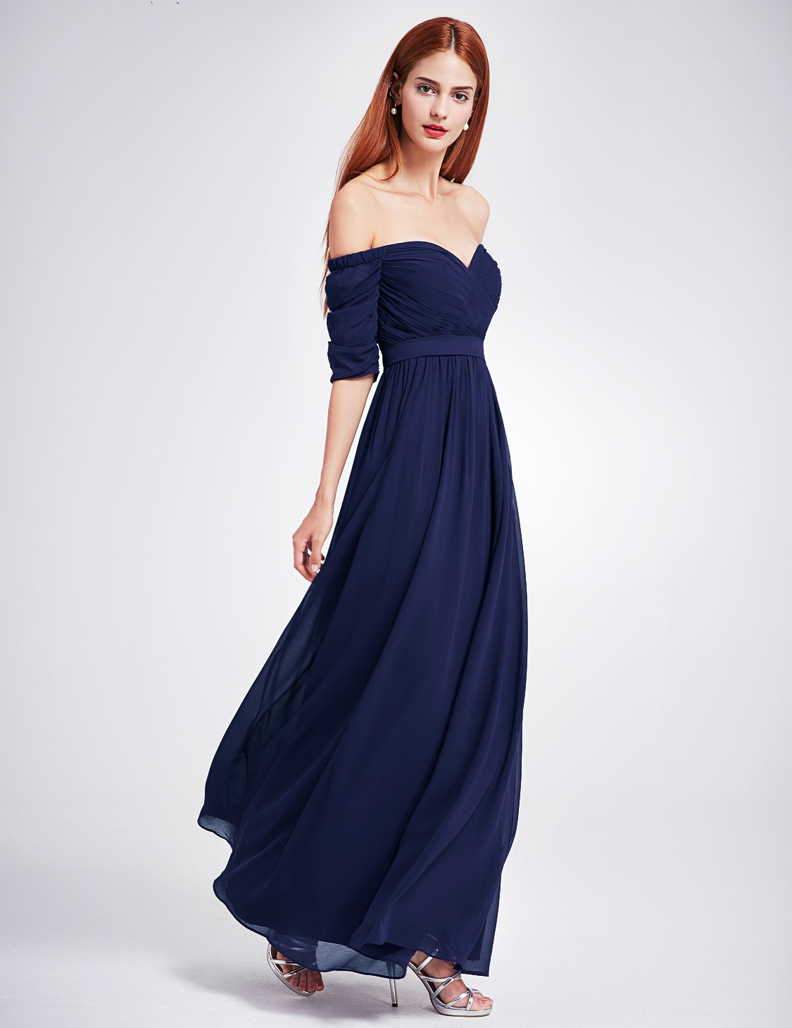 UK Women's Off-shoulder Prom Party Bridesmaid Wedding Maxi ...