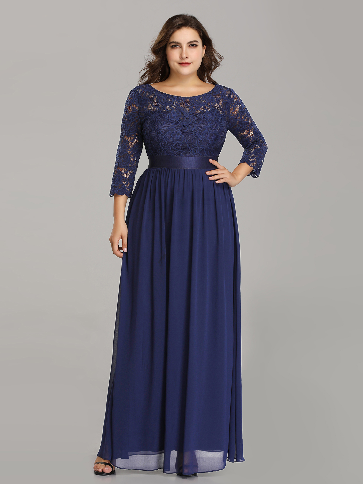 dcb3e494a02 Ever-Pretty US Plus Size Mother of Bride Dresses Navy Blue Evening ...