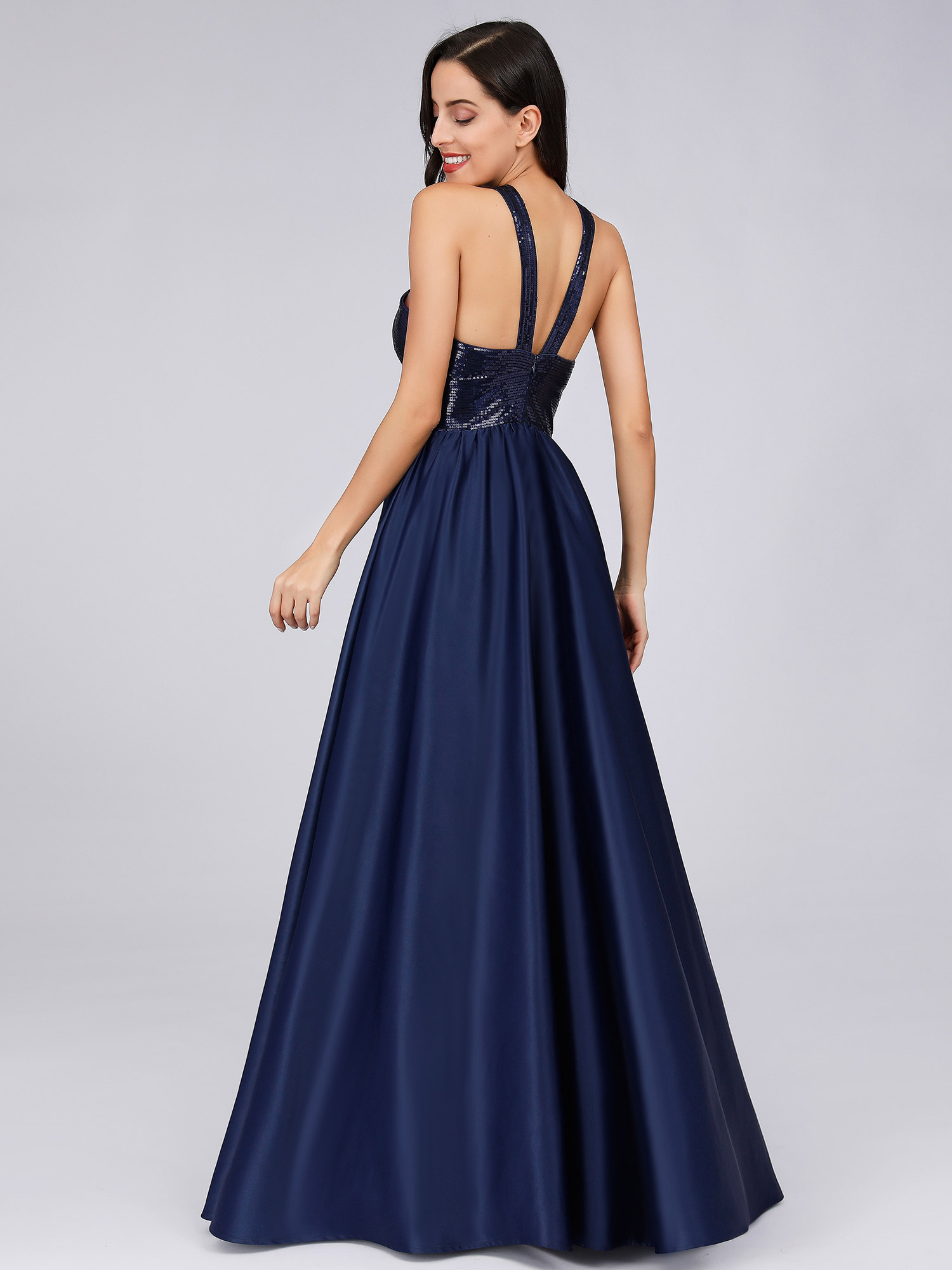 Ever-pretty-US-Long-Navy-Blue-Formal-Prom-Gowns-Evening-Cocktail-Party-Dresses thumbnail 5