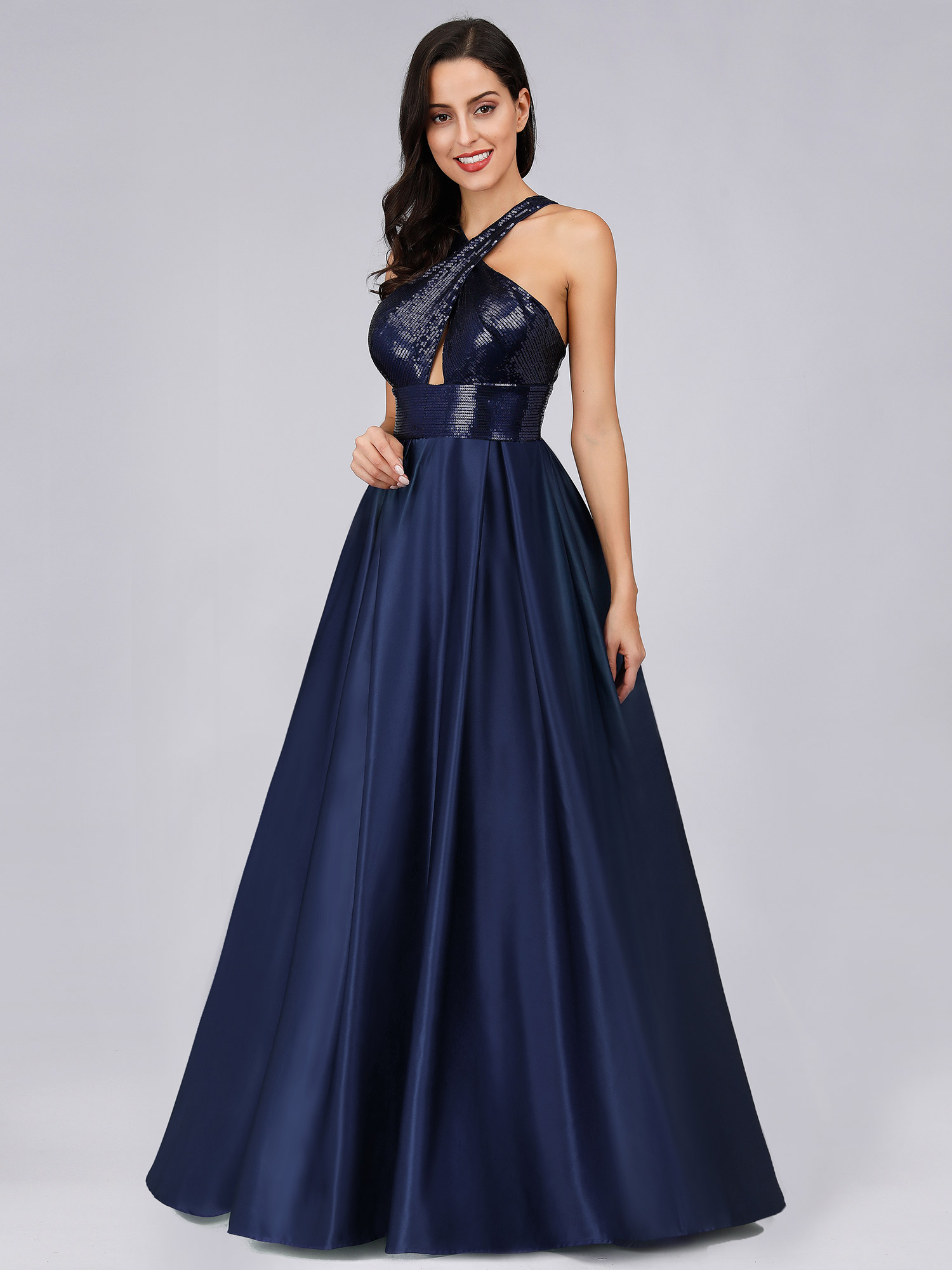 Ever-pretty-US-Long-Navy-Blue-Formal-Prom-Gowns-Evening-Cocktail-Party-Dresses thumbnail 7