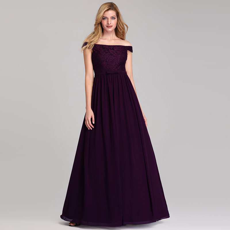 Ever-Pretty Long A-line Bridesmaid Dress Sleeveless V-neck Cocktail Gowns 07889