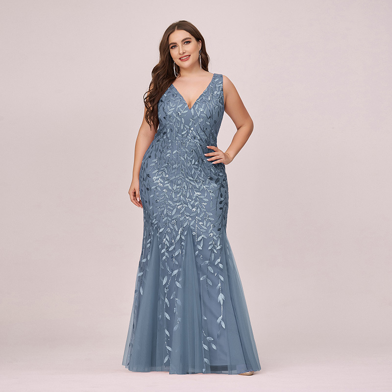 Ever-Pretty US Plus Size V-neck Homecoming Dress Mermaid ...