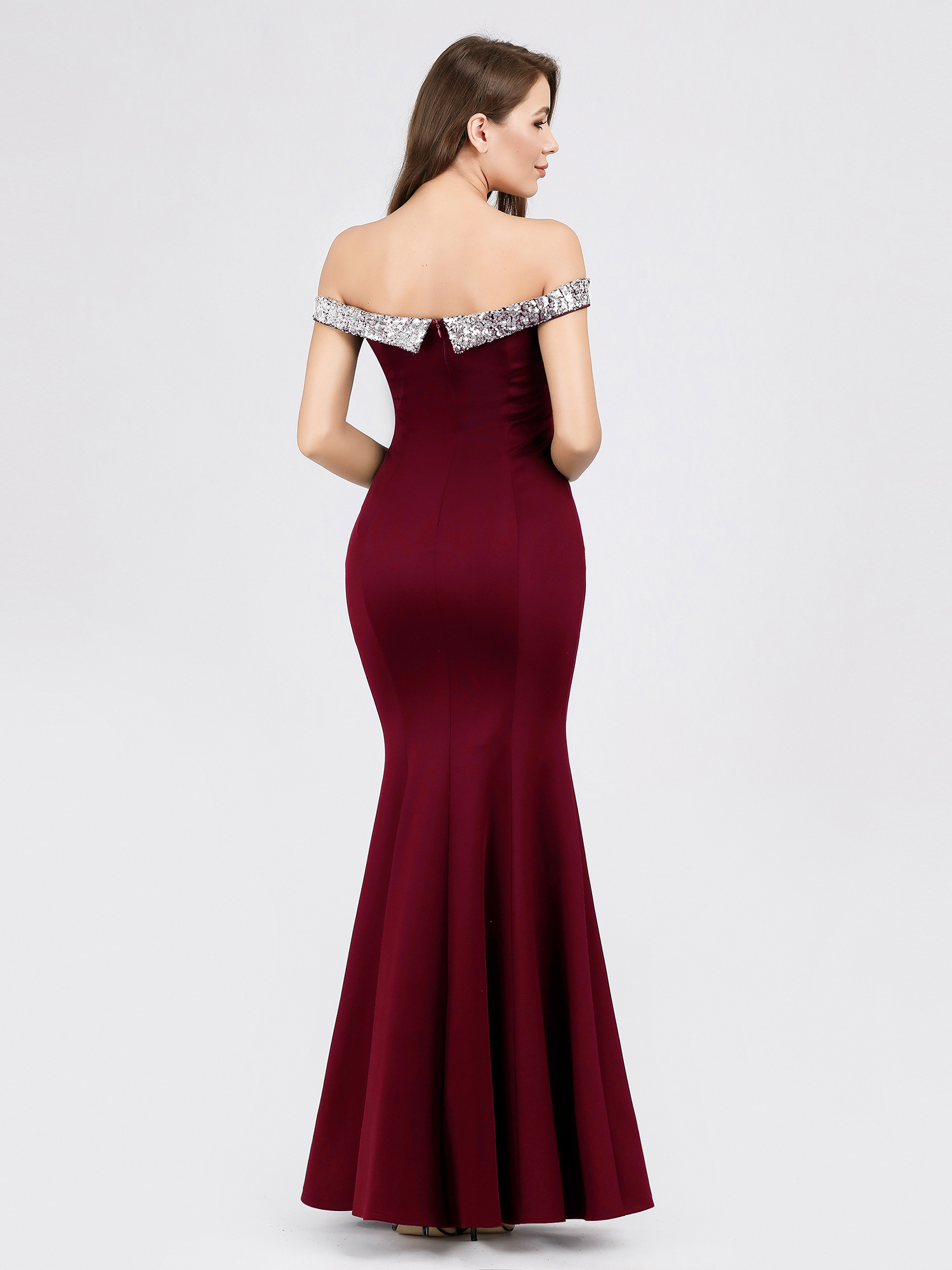 Ever-Pretty-US-Off-Shoulder-Sequins-Long-Evening-Dress-Mermaid-Wedding-Gown-7941 thumbnail 8