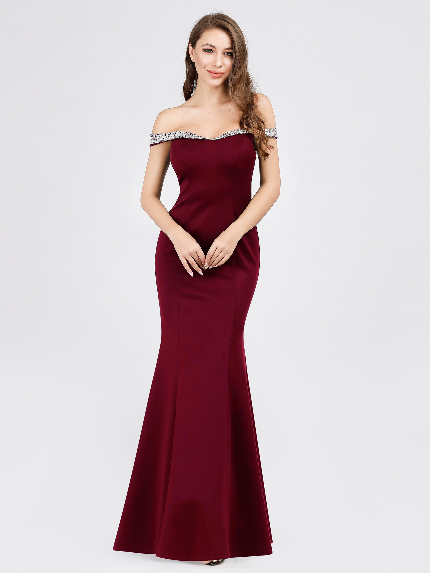 Ever-Pretty-US-Off-Shoulder-Sequins-Long-Evening-Dress-Mermaid-Wedding-Gown-7941 thumbnail 9