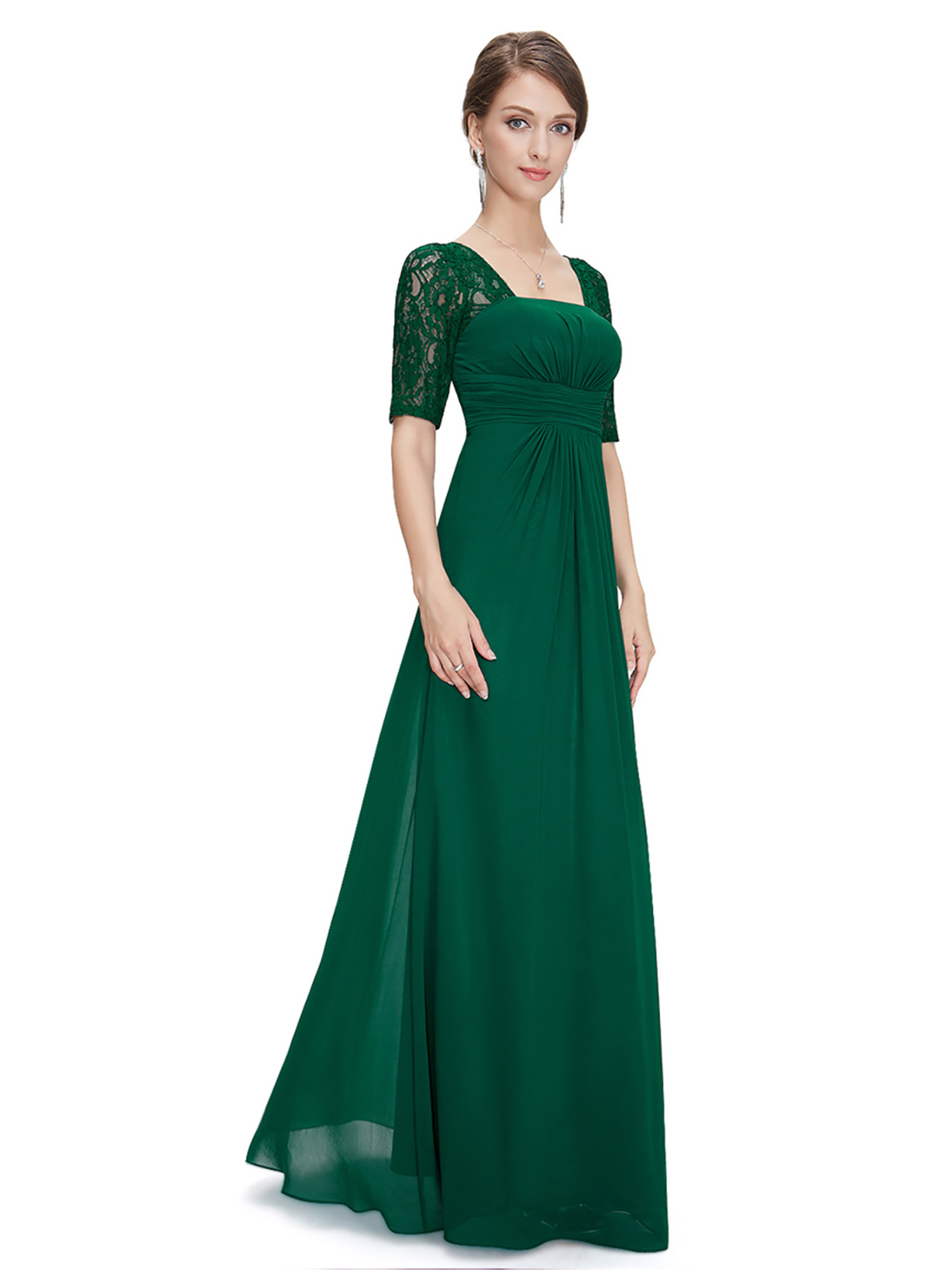 Ever pretty formal long evening lace gown party prom bridesmaid picture 13 of 16 ombrellifo Choice Image
