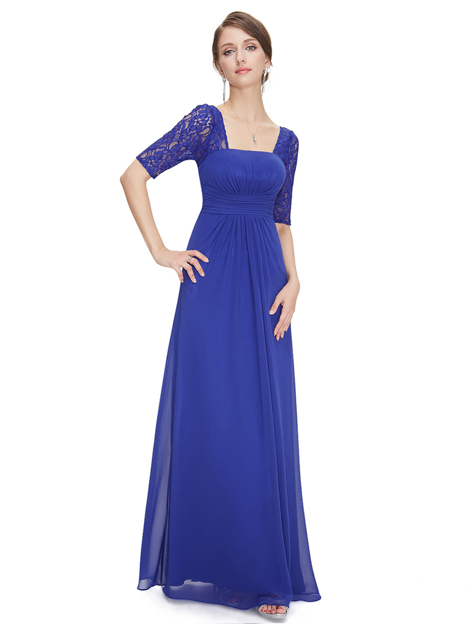 Ever-Pretty Formal Long Evening Lace Gown Party Prom Bridesmaid ...