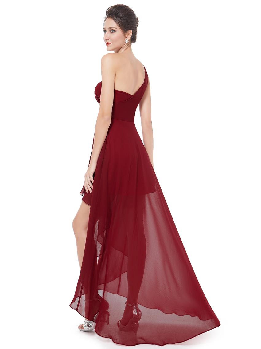 Ever pretty one shoulder bridesmaid dress high low for Ever pretty wedding dresses