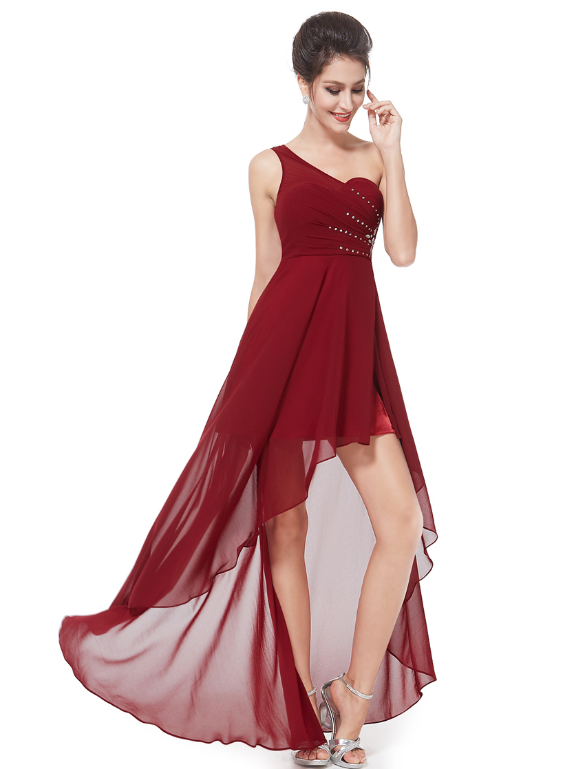 Ever pretty one shoulder bridesmaid dress high low for Pretty dress for wedding