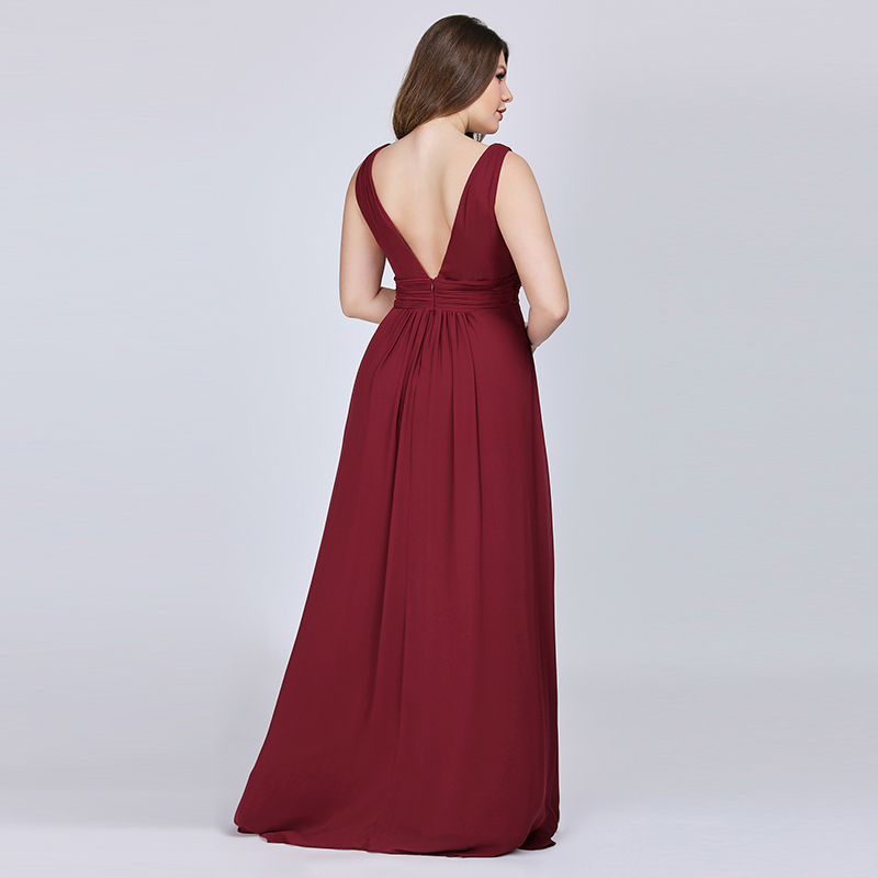 Ever-Pretty-US-Plus-Long-Bridesmaid-Dresses-Chiffon-V-Neck-Formal-Dresses-08110 thumbnail 14