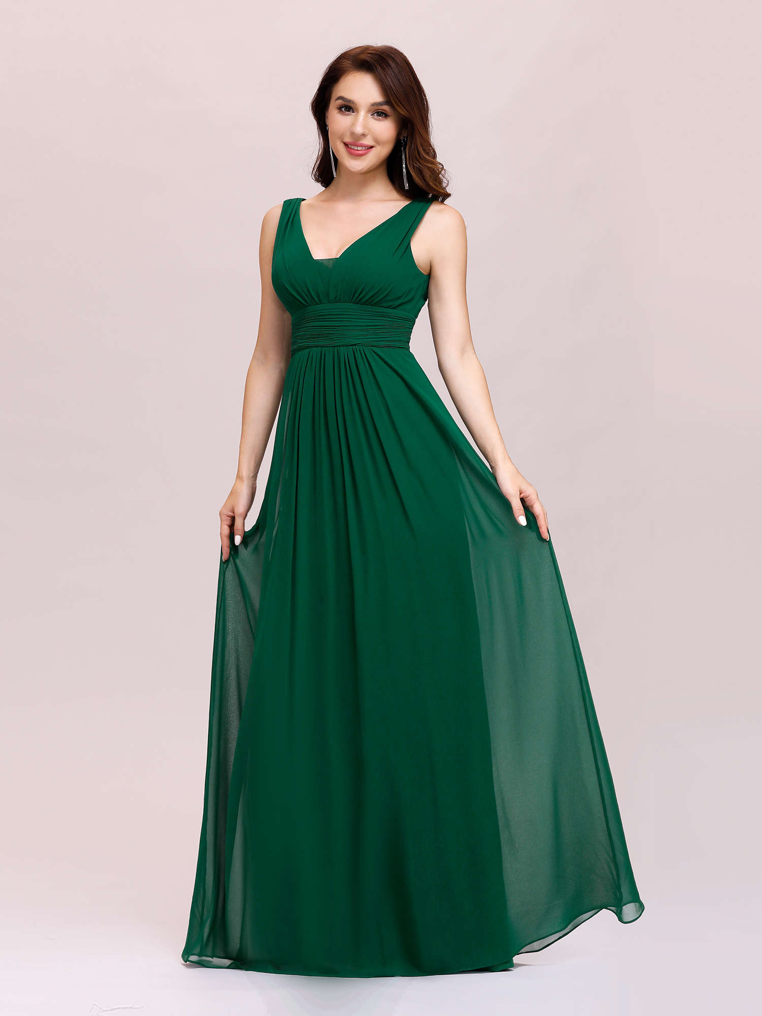 Ever-Pretty US Bridesmaid Dresses Long Chiffon Formal V-Neck Evening ...
