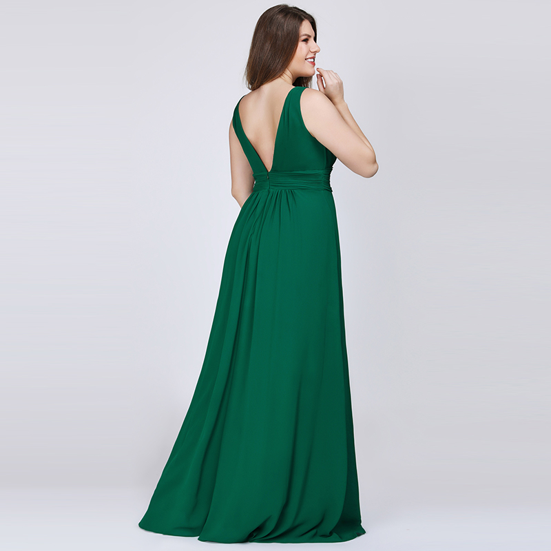 Ever-Pretty-US-Plus-Long-Bridesmaid-Dresses-Chiffon-V-Neck-Formal-Dresses-08110 thumbnail 22