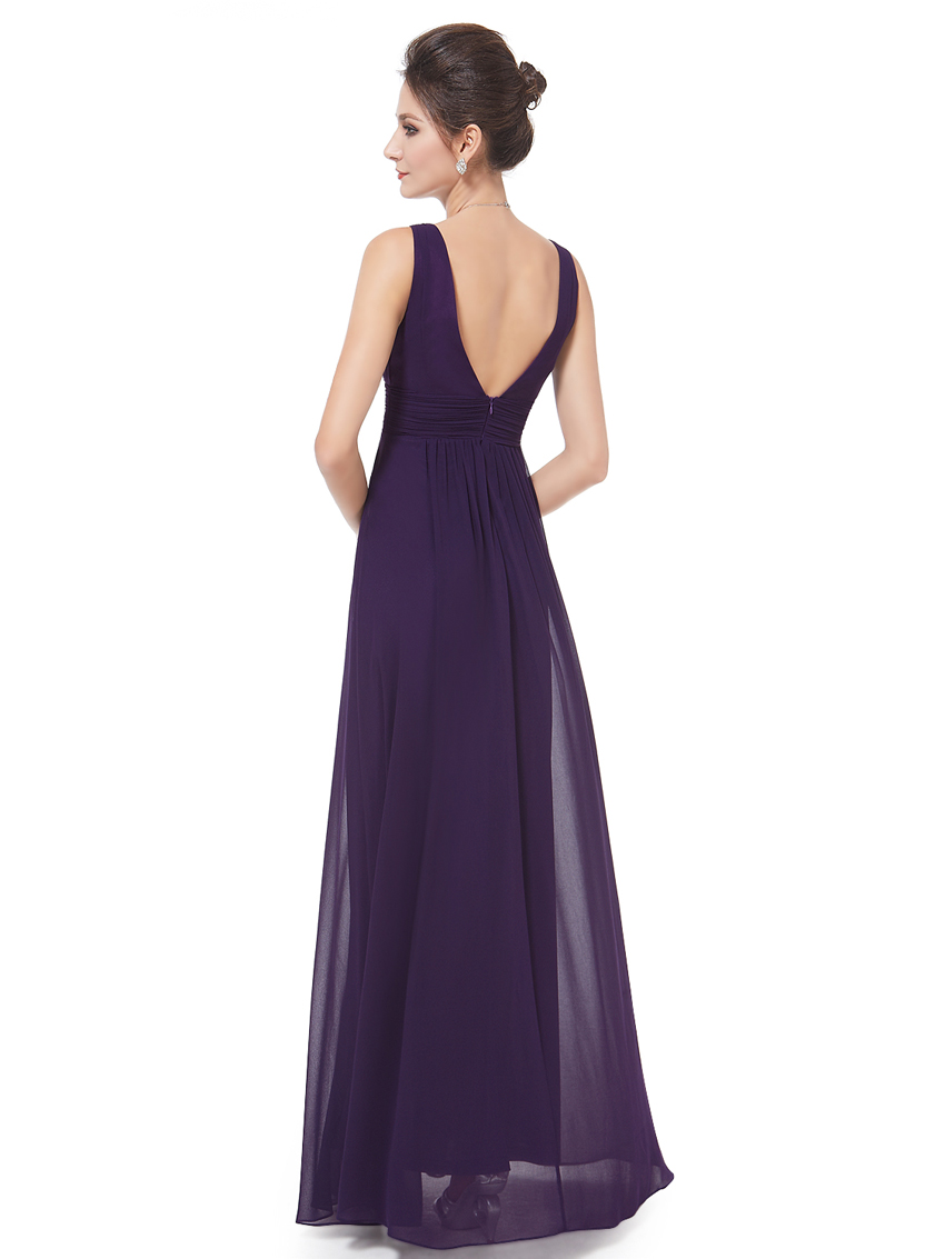 Ever-Pretty-US-Plus-Long-Bridesmaid-Dresses-Chiffon-V-Neck-Formal-Dresses-08110 thumbnail 24