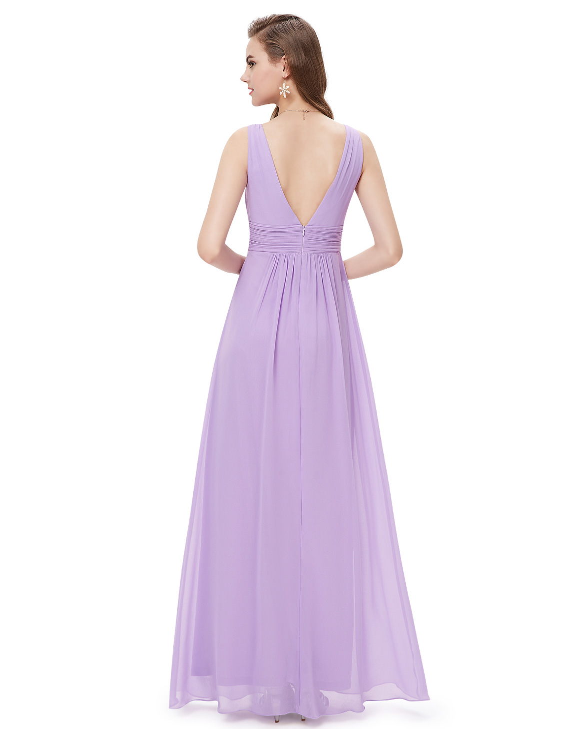 Ever-Pretty-US-Plus-Long-Bridesmaid-Dresses-Chiffon-V-Neck-Formal-Dresses-08110 thumbnail 30