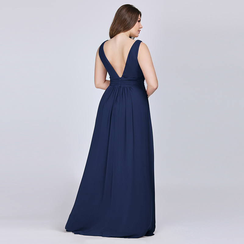 Ever-Pretty-US-Plus-Long-Bridesmaid-Dresses-Chiffon-V-Neck-Formal-Dresses-08110 thumbnail 33
