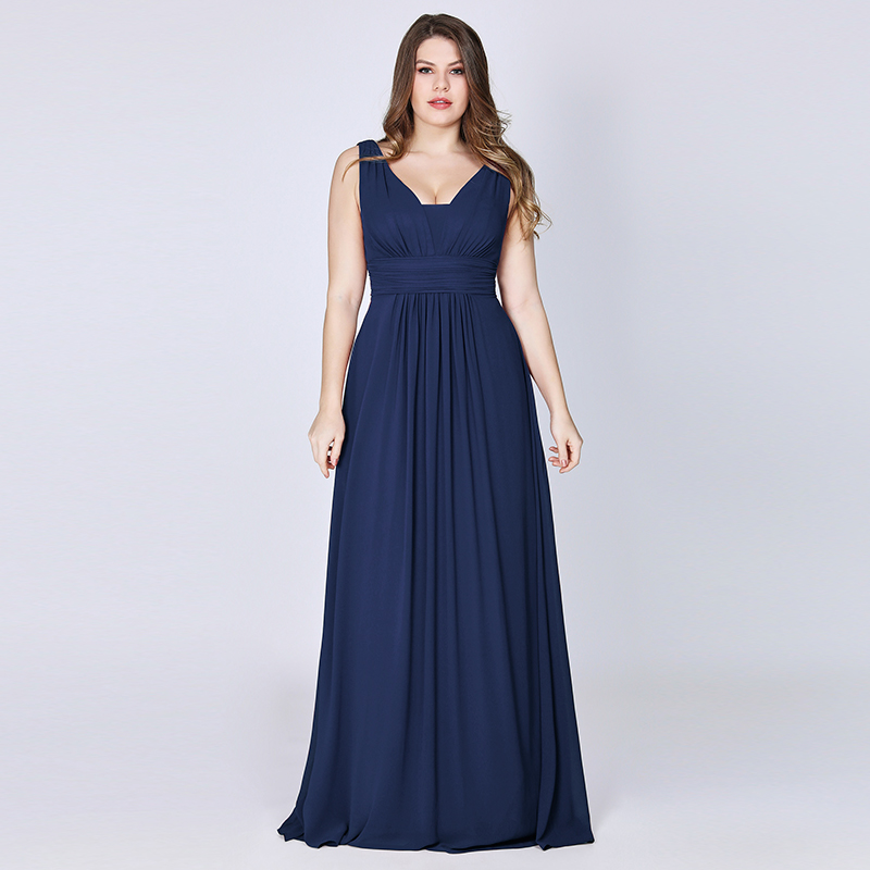 Ever-Pretty-US-Plus-Long-Bridesmaid-Dresses-Chiffon-V-Neck-Formal-Dresses-08110 thumbnail 34