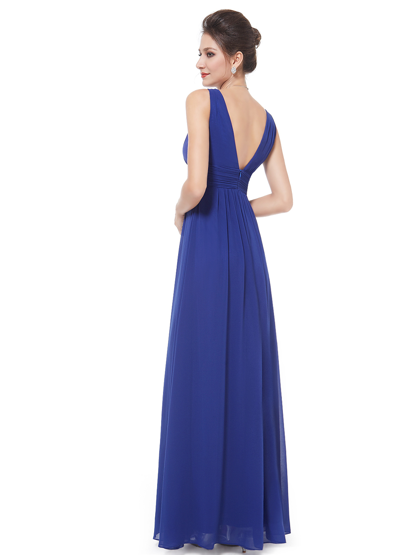 Ever-Pretty-US-Plus-Long-Bridesmaid-Dresses-Chiffon-V-Neck-Formal-Dresses-08110 thumbnail 45