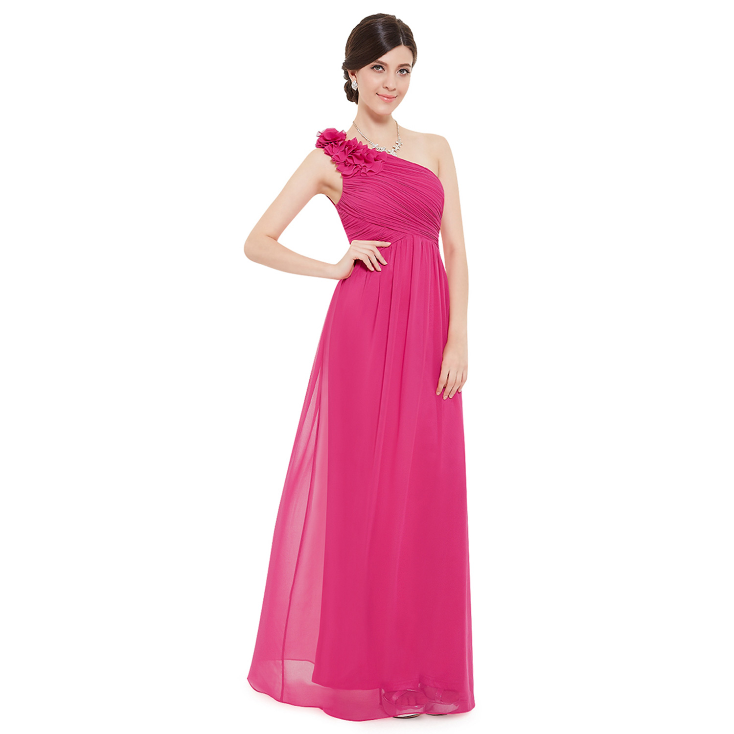 Ever-Pretty One-Shoulder Bridesmaid Dress Long Formal Evening Party ...