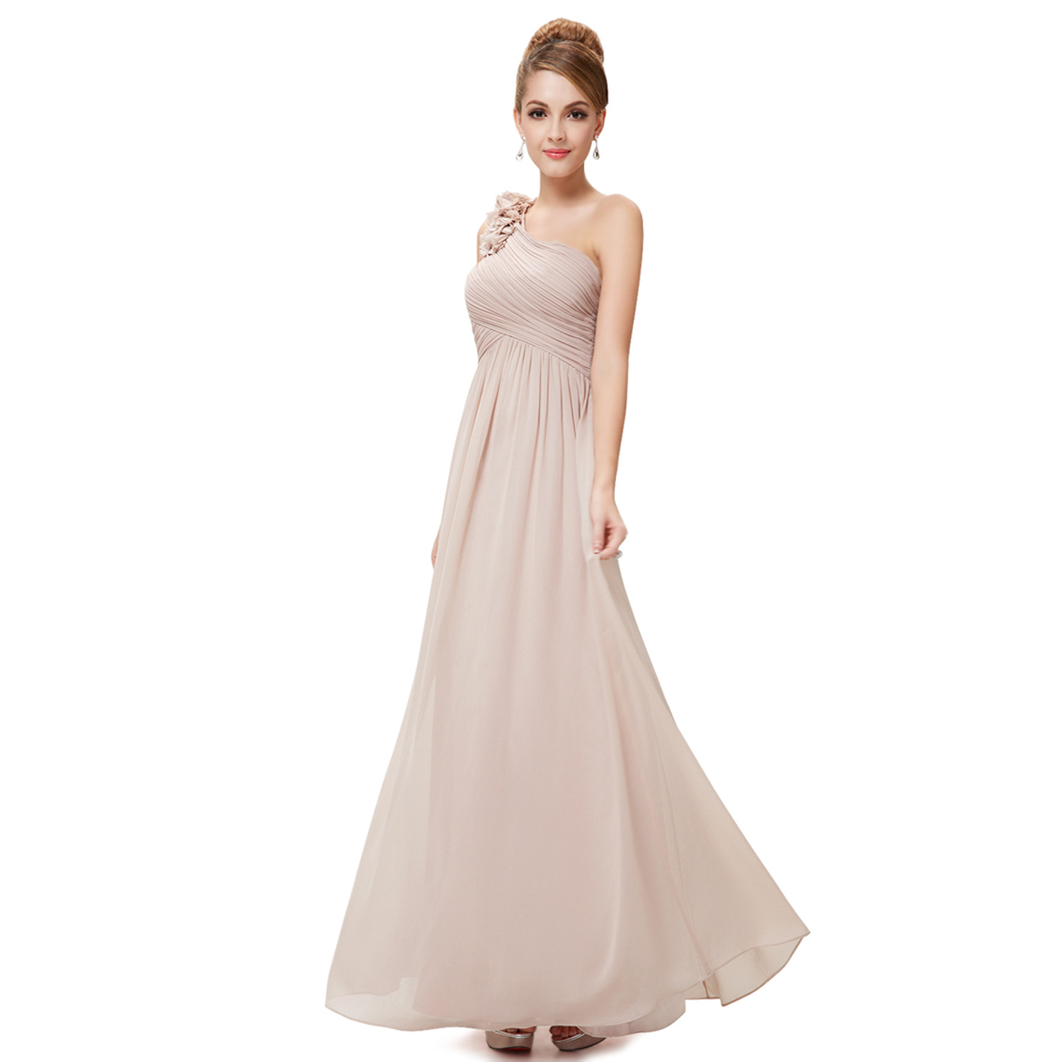 Ever-Pretty One Shoulder Wedding Bridesmaid Prom Evening Long Gown ...