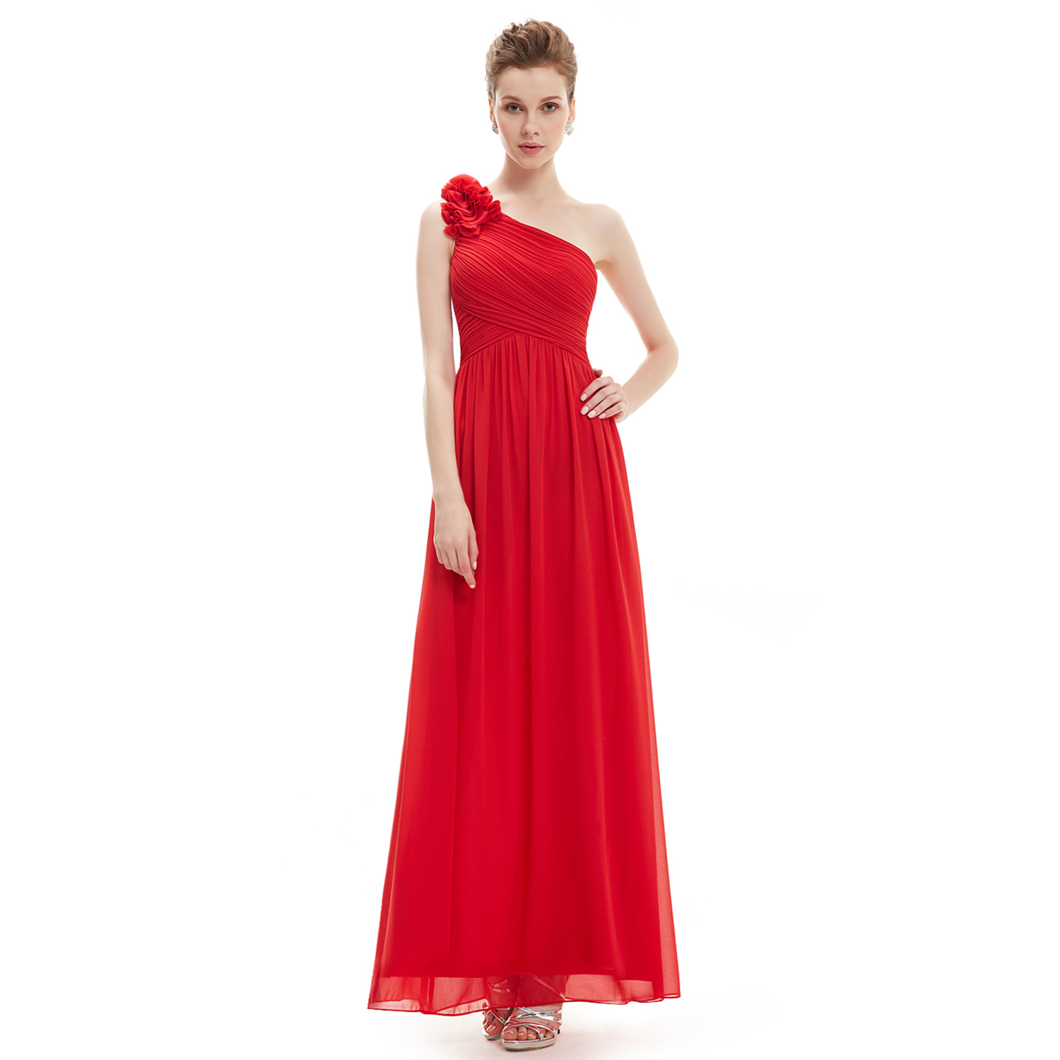 Long One Shoulder Prom Gown Bridesmaid Cocktail