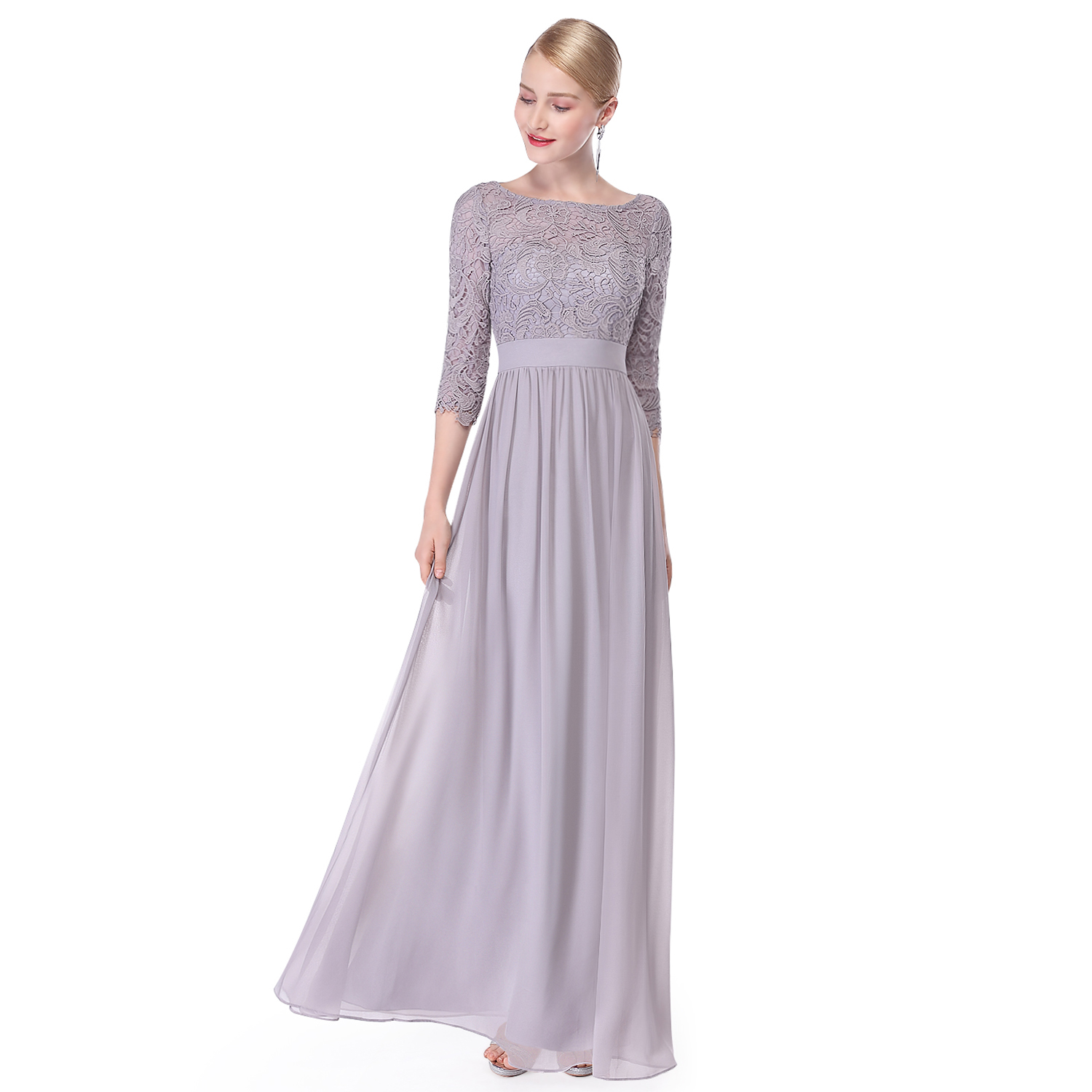 Lace Formal Evening Gowns Half Sleeve Bridesmaid Dresses 08412 Ever ...